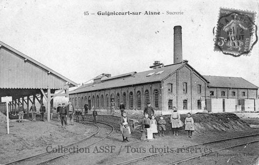 Réseau ferré intérieur à l'établissement de Guignicourt, en voie métrique.