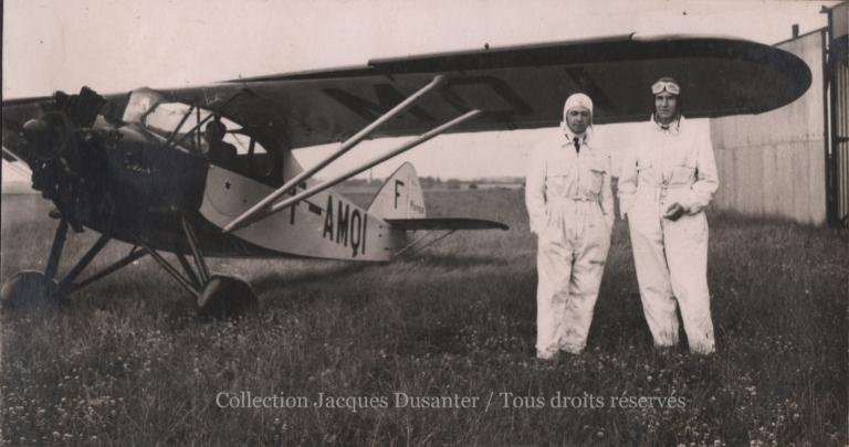 Les élèves pilotes  Barrabé et d'Anterroches (1935)